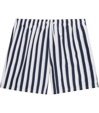 FLINT Striped Swim Shorts Navy, £65, reiss.com