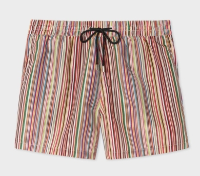Mens Signature Stripe Print Swim Shorts, £95, paulsmith.com