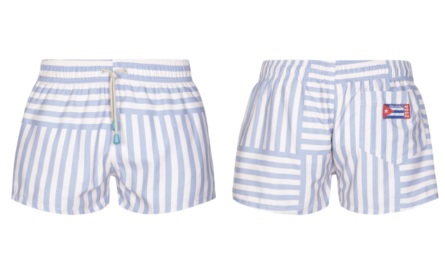 Oiler&Boiler Striped Swim Shorts, £42, bangandstrike.com