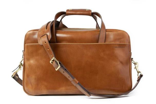 Buck Brown Harness Leather Briefcase. £485. stockandbarrelco.com
