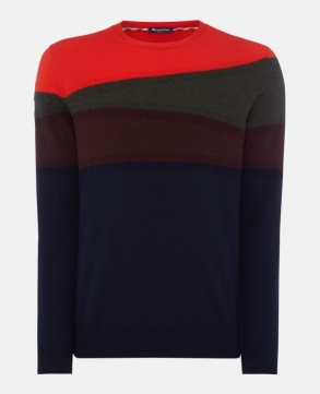 haywick colour block jumper, aquacutum,275