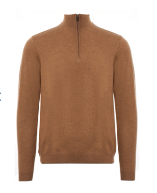 None of the above camel 1l4 zip jumper, 100, stuartslondon