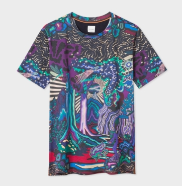 paul smith dreamer print t-shirt, 170, paulsmith.com