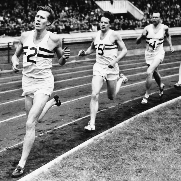 Roger Bannister In Action