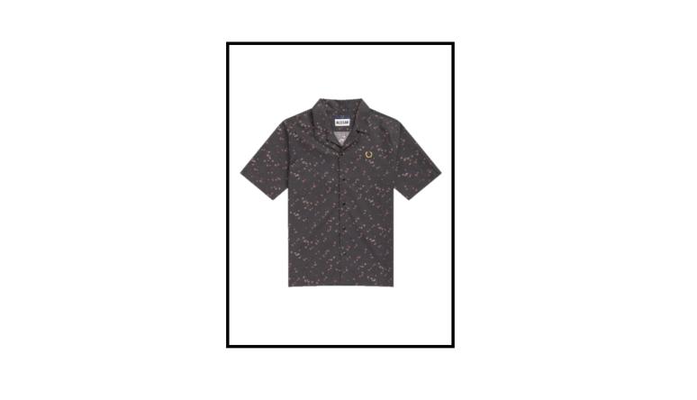 liberty print bowling shirt