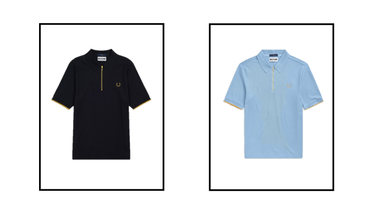 Zip Detail Polo Shirt