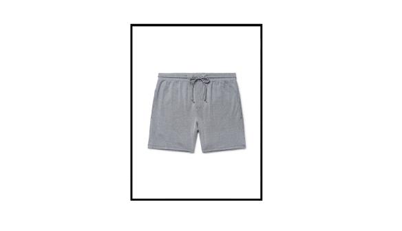 arnold striped cotton jersey shorts by schiesser