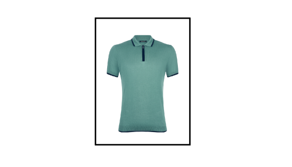 slim fit knitted cotton polo shirt remus uomo